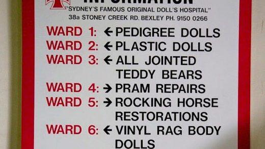информация для больных и посетителей в больнице для кукол